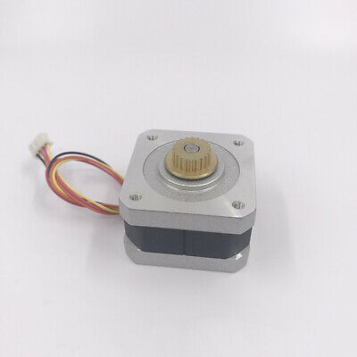 NEMA 17 Stepper Motor 2-phase 4-wire 0.9 Degree W/ 20T Copper Synchronous Pulley 5