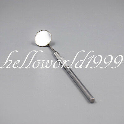 Dental Glass Mirror Dentist Grip Handle Tool For Teeth Mouth Cleaning Inspection