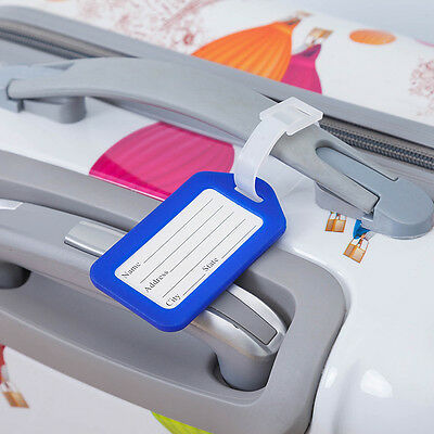 10 Travel Luggage Bag Tag Plastic Suitcase Baggage Office Name Address ID Label 8