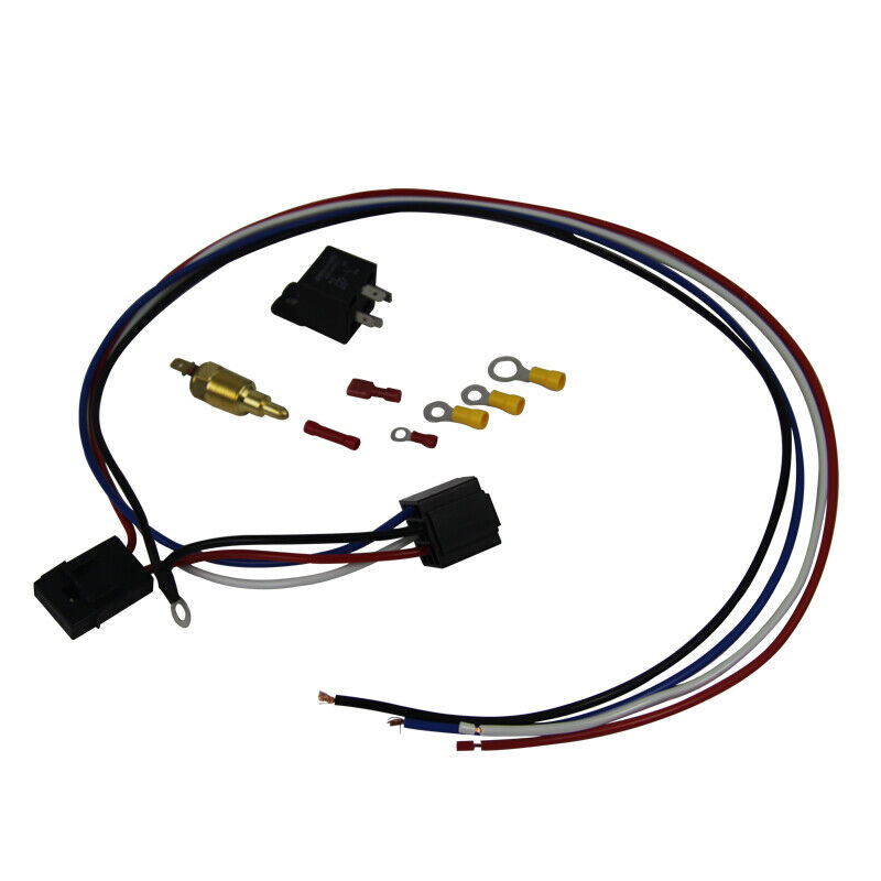 Electric Cooling Thermostat Relay Fan Kit Sensor Temperature Switch Wiring 4