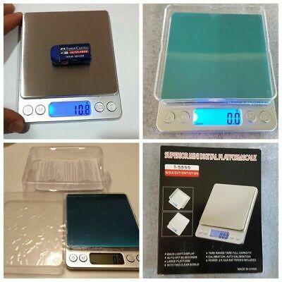 Portable 3000g x 0.01g Mini Digital Scale Jewelry Pocket Balance Weight Gram LCD 7