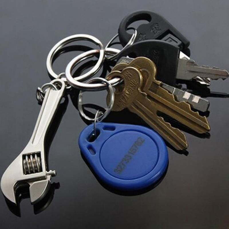 Mini Creative Wrench Spanner Key Chain Tool Unisex Keyring Keychain Jewelry New 2