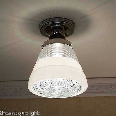 120 Vintage  Ceiling Light Lamp Fixture Re-Wired bath hall porch kitchen 4