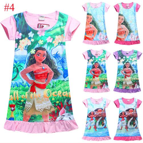 Kid Baby Girl Nightdress Summer Princess Pajamas Nightwear Nightie Nightgown New 8