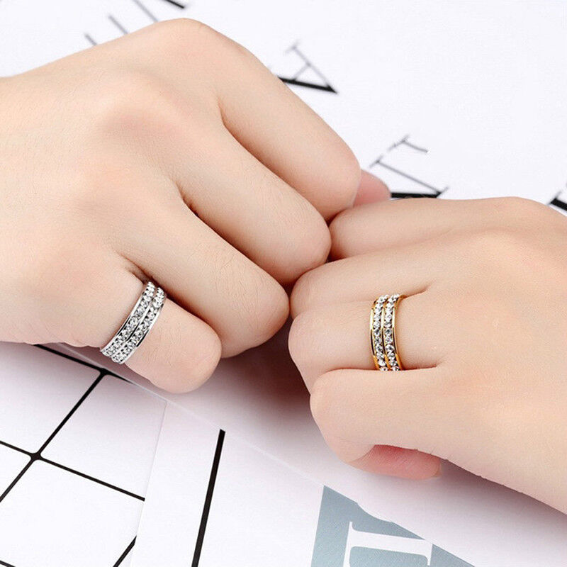 Weight Loss Crystal Rhinestone Ring Slimmings Healthcare Ring Magnetic Jewelry4H