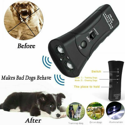 Ultrasonic Anti Dog Barking Trainer LED Light Gentle Chaser Petgentle Sonics 3