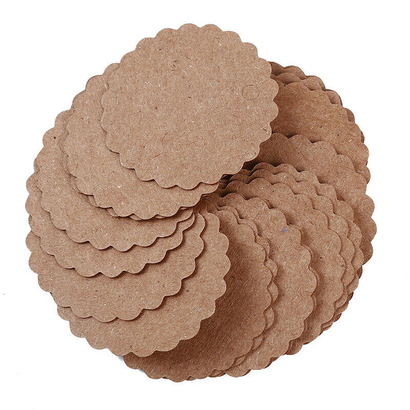 Kraft Paper Hang Tags Wedding Party Favor Label Thank you Gift Cards T 6
