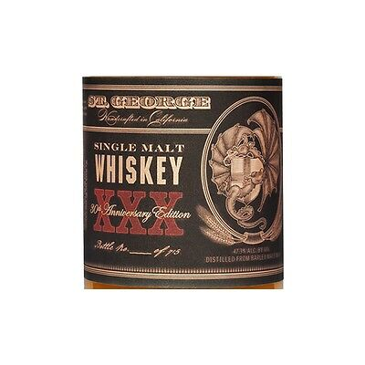 St George XXX 30th Anniversary Single Malt Whisky 750ml Limited Edition 2