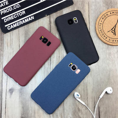 For Samsung Galaxy S8 S7 S9 J5 Slim Soft Matte Rubber Silicone Phone Case Cover 3