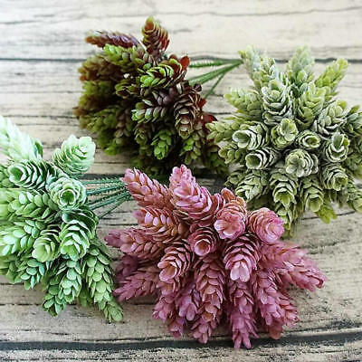 30 Heads Small Pineapple Plastic Leaves DIY Wedding Plant Green Leaf Home Decor 2