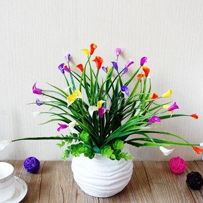 Plastic Outdoor Artificial Flowers Fake False Plants Grass Garden Lily Tulip, 6