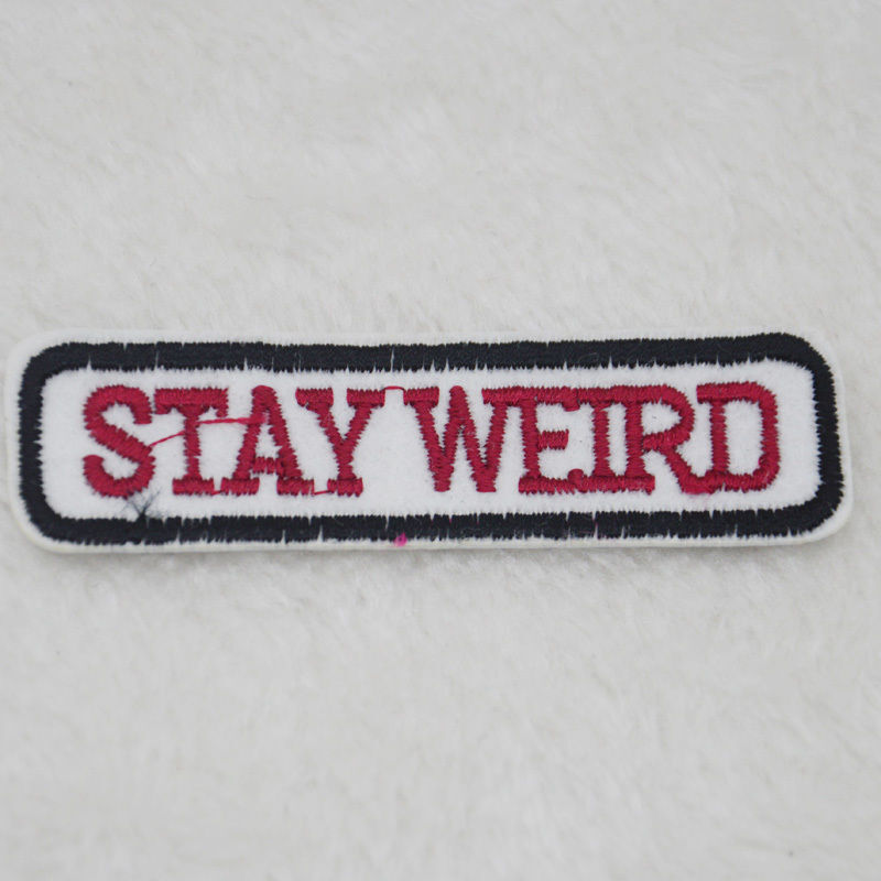 Patch Stay Weird Smile 5.5x5.5cm