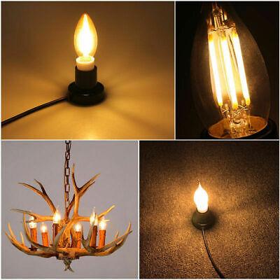 1x/4x 2W 4W 6W 8W E27 E14 LED Edison Filament Candle Globe Light Bulbs Lamp 9