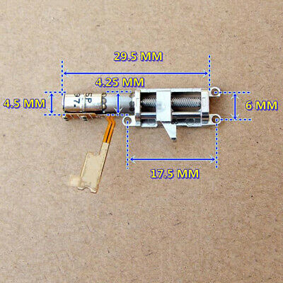 4MM Planetary Gear Stepper Motor 2-Phase 4-Wire Mini Full Metal Gearbox & Slider 4