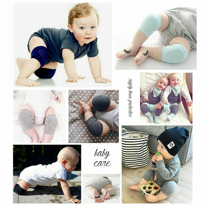 Fashion Baby Crawling Soft Knee Pads Safety Non-slip Walking Leg Elbow Protector 3