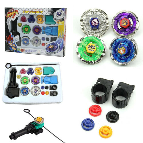 4D Beyblade Set Fusion Top Metal Rapidity Masters Launcher Grip Kids Toys Gift 3