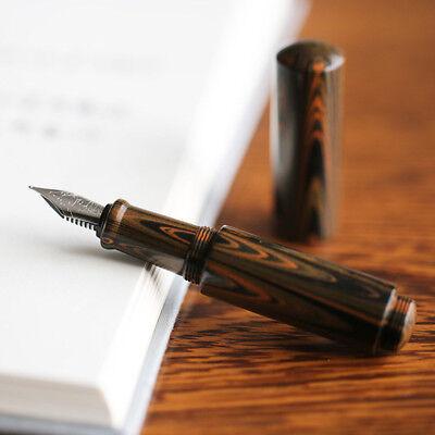 Moonman Wancai Mini Ink Sac Rubber Pattern China Fountain Pen Fine Nib 0.5mm NEW