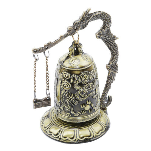 Gift Bronze Lock Home Decoration Retro Ornament Chinese Style Hit Dragon Bell 6