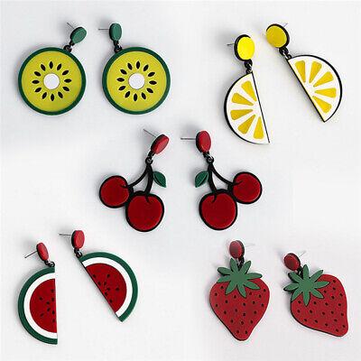 Fashion Women Delicious Fruit Acrylic Pendant Dangle Ear Studs Earrings Jewelry 6