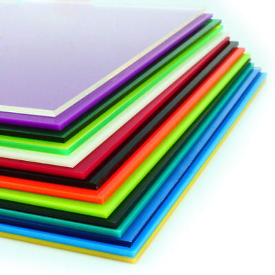 Color Acrylic Sheet Plate Plastic Plexiglass Panel 8x8/10x20/15x15/20x20/30x40cm 8