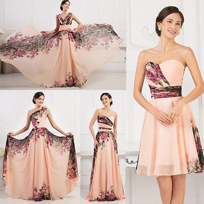 2015 Vintage Rosso Fuoco Floreale Gowns Damigella D'onore Serata Festa Formale 2