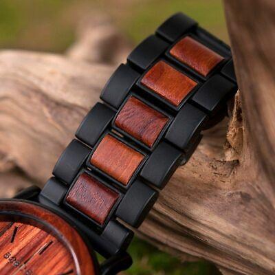 Luxury Design BOBO BIRD Japan Quartz Wrist Watch Men Women 44mm Gift Box Wood 8