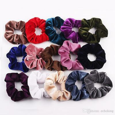 Velvet Scrunchies Ponytail Women Hair band Elastic Hair Bands Scrunchy Girls AU 2