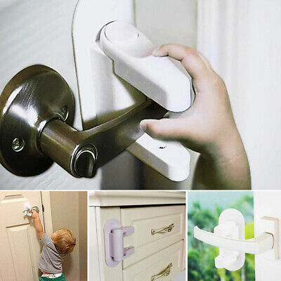 Door Lever Lock Safety Child Baby Proof Doors Adhesive Lever Handle Safety Lock 12