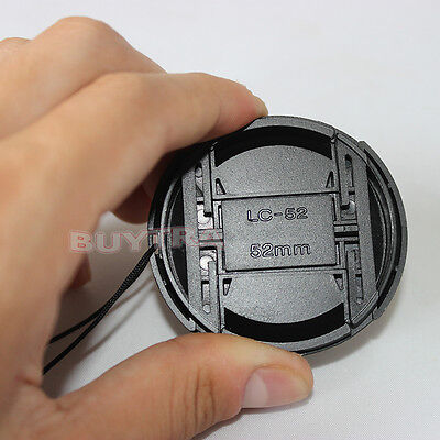 Best 52mm Center Pinch Snap on Front Cap Cover For Sony Canon Nikon Lenssa SL 3