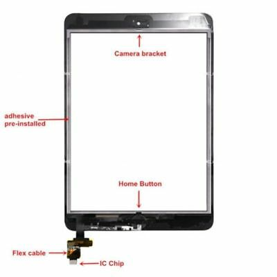 OEM Digitizer Glass Touch Screen Replacement For Apple iPad 2 3 4 Air 1 Mini 1 2 3