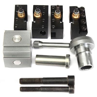 1 Schnellspann Werkzeug Pfosten Halter Kit Satz für 7 x10, 12,14 Drehbank DHL