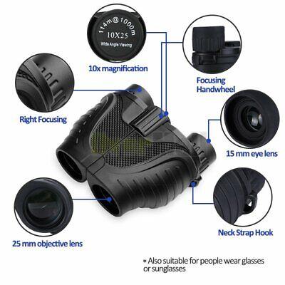 10X25 Binoculars with Night Vision BAK4 Prism High Power Waterproof 4