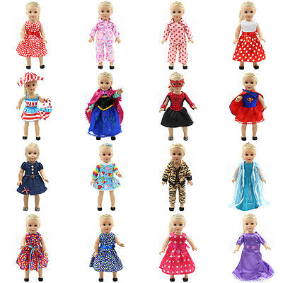 """Fits 18"""" inch Doll Girls Doll Handmade fashion Doll Clothes dress Outfit 2"""