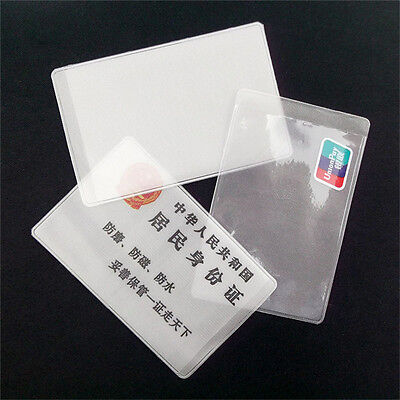 10X PVC Credit Card Holder Protect ID Card Business Card Cover Clear FrosteUULK 5