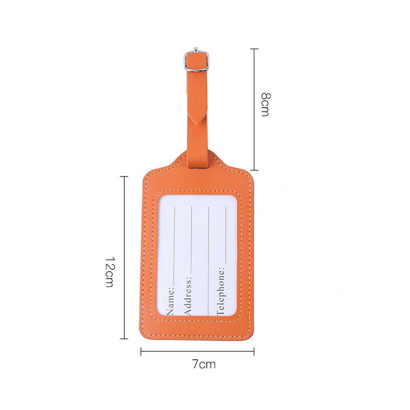 Leather Luggage Tags Suitcase ID Card Name Label Baggage Address Tag Travel 1pc 2