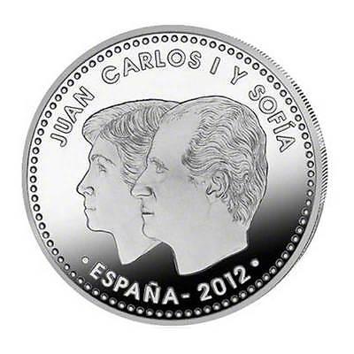 30 Euro Silbermünze 10 Jahre Euro-Währung Spanien 2012 Stempelglanz