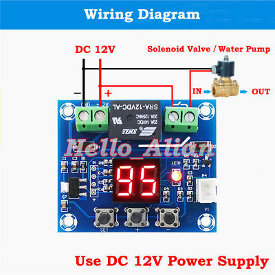 LED DC 12V Soil Moisture Sensor Humidity Relay Controller Automatically Watering