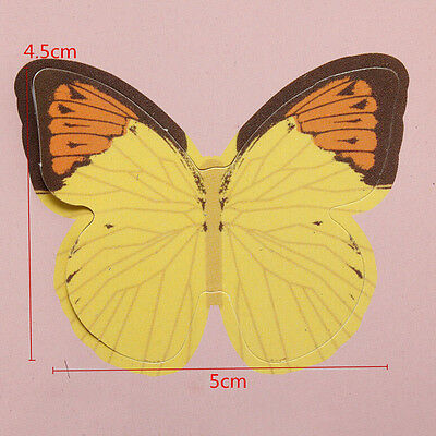 15X DIY 3D Butterfly Wall Stickers Art Decal Paper Butterflies Home ...
