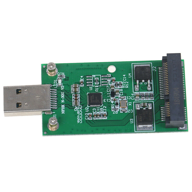 1Pc Mini USB 3.0 to PCIE mSATA External SSD PCBA Conveter Adapter  MER 5