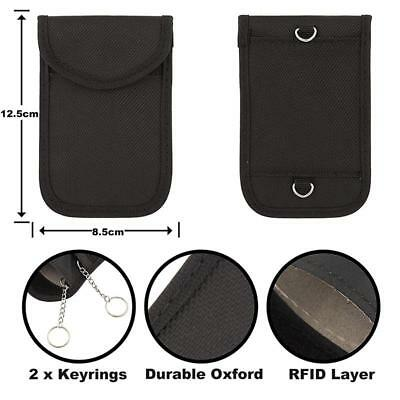 2 X Keyless Defender Fob Signal Blocker Car key Faraday Bag RFID Blocking Pouch 4