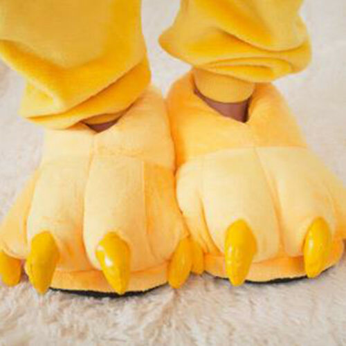 c6828adf8472 Women Men Boys Girls Soft Plush Fun Winter Animal Claw Paw Feet Indoor  Slippers 8 8 of 11 See More