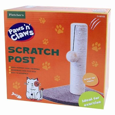 Cat Kitten Scratch Post Play Scratching Pole Toy Mouse Cats Claws Tree Corner Uk