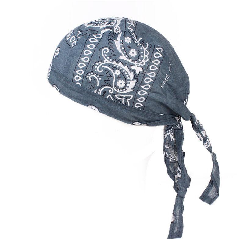 Biker Skull Cap Motorcycle Bandana Printed Head Wrap Du Doo Do Rag Men Hats 6