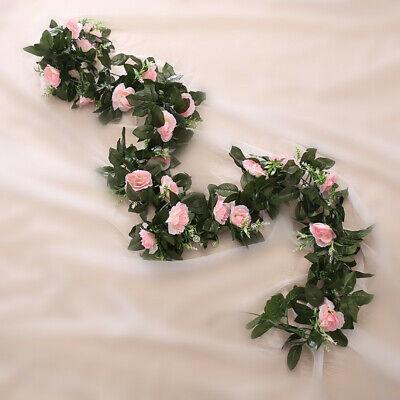 2.5m Artificial Flower Silk Rose Leaf Garland Vine Ivy Home Wedding Garden Deor 3