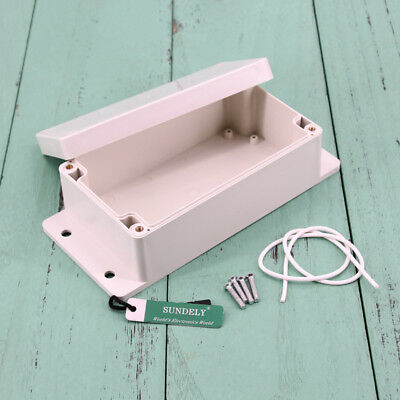 Waterproof ABS Plastic Electronics Project Box Enclosure Case Cover Screw New 5