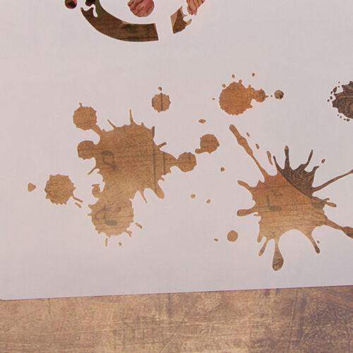 Reusable Water droplet Stencil Airbrush Art Home Decor Scrapbooking Album-KT