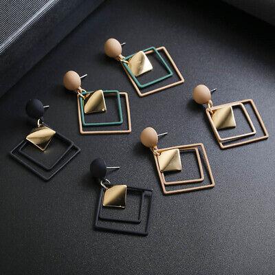 Fashion Women Statement Boho Geometric Big Pendant Ear Stud Dangle Drop Earrings 12