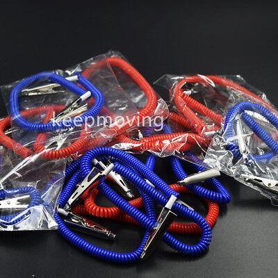 20 Pcs Dental Patient Bib Clips Chains Napkin Holder Flexible Coil Plastic 5