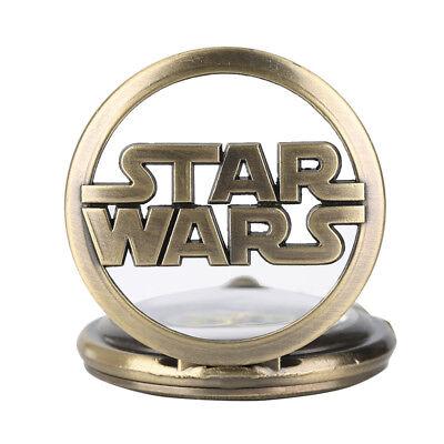 Stars Wars Bronze Pocket Watch Walt Disney Darth Vader Retro Millenniun Falcon 5