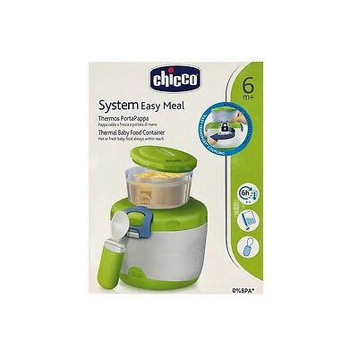CHICCO Easy Meal Thermos Portapappa System 6m + Contenitore 180ml Thermosflasche 3